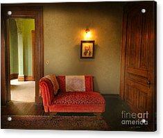 George's Red Sofa Acrylic Print