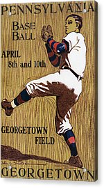 Georgetown Baseball Game Poster Acrylic Print by American School
