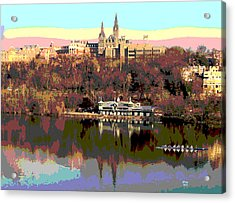 Georgetown University Crew Team Acrylic Print by Charles Shoup
