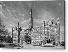 Georgetown University Healy Hall Acrylic Print by University Icons