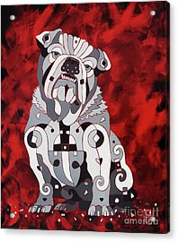 Georgia Bull Dog Acrylic Print