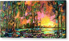 Georgia Landscape Okefenokee Sunset  Acrylic Print by Ginette Callaway