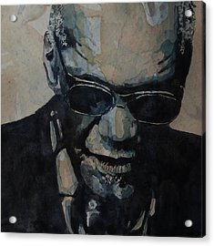 Georgia On My Mind - Ray Charles  Acrylic Print by Paul Lovering