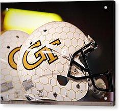 Georgia Tech Football Helmet Acrylic Print by Replay Photos