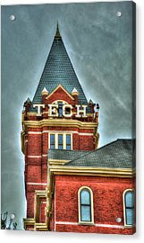 Georgia Tech Tower 8 Georgia Institute Of Technology Art Acrylic Print