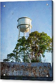 Acrylic Print featuring the photograph Georgia Water Tower by Whitney Leigh Carlson