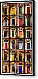 Georgian Doors Of Dublin 3 Acrylic Print