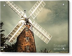 Acrylic Print featuring the photograph Georgian Stone Windmill  by Jorgo Photography - Wall Art Gallery
