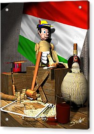 Geppettos Workbench-the Creation Of Pinocchio Acrylic Print