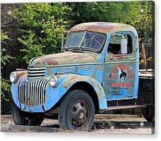 Geraine's Blue Truck Acrylic Print