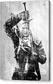 Geralt Of Rivia Acrylic Print by Semih Yurdabak