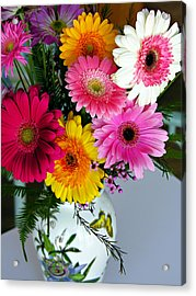 Gerbera Daisy Bouquet Acrylic Print by Marilyn Hunt