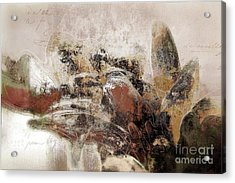 Acrylic Print featuring the mixed media Gerberie - 152s by Variance Collections