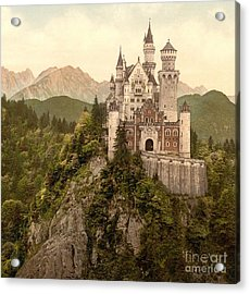 German Castle Neuschwanstein Acrylic Print by Padre Art