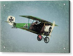 Acrylic Print featuring the photograph German Fighter by James Barber