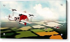 German Fokker D7 Ww1 Fighter Acrylic Print by John Wills