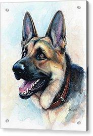 German Shepherd Dog Acrylic Print by Christine Karron