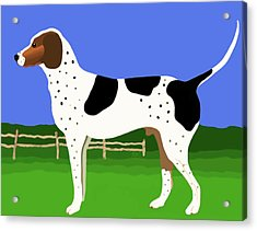 Acrylic Print featuring the painting German Shorthaired Pointer In A Field by Marian Cates