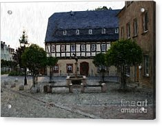 German Town Square Acrylic Print