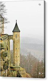 Germany - Elbtal From Festung Koenigstein Acrylic Print by Christine Till