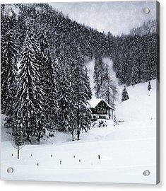Germany Bavarian Winter's Tale Ix Acrylic Print by Melanie Viola