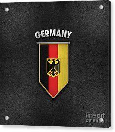 Germany Pennant With Leather Style Background Acrylic Print