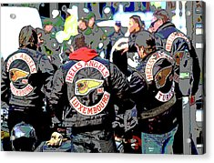 Germany Trial Hell Angels Motorcycle Club Acrylic Print