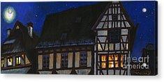 Germany Ulm Fischer Viertel Moonroofs Acrylic Print by Yuriy  Shevchuk