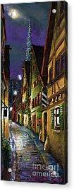 Germany Ulm Old Street Night Moon Acrylic Print