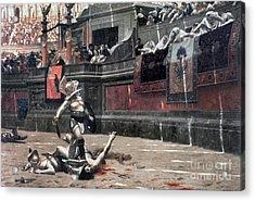 Gerome: Gladiators, 1874 Acrylic Print by Granger