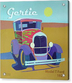 Gertie Model T Acrylic Print by Evie Cook