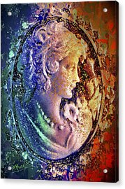 Acrylic Print featuring the mixed media Gertrude's Cameo by Al Matra
