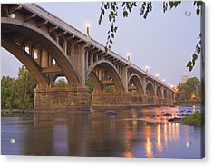 Gervais Bridge Acrylic Print by Steven Richardson