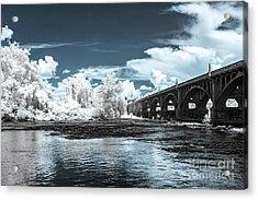 Gervais St. Bridge-infrared Acrylic Print