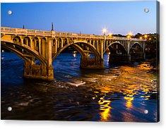 Gervais Street Bridge At Twilight Acrylic Print
