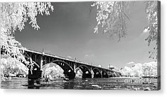 Gervais Street Bridge In Ir1 Acrylic Print by Charles Hite