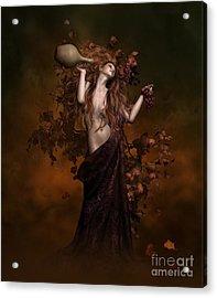 Geshtinanna Goddess Of Grape Vine Acrylic Print by Shanina Conway
