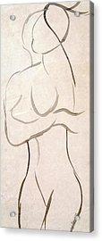 Gestural Nude Sketch Acrylic Print