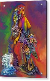Acrylic Print featuring the digital art Get Away Wip by Karen Musick