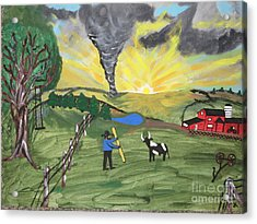 Acrylic Print featuring the painting Get In The Barn by Jeffrey Koss