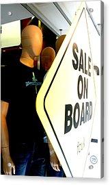 get on Board Acrylic Print by Jez C Self