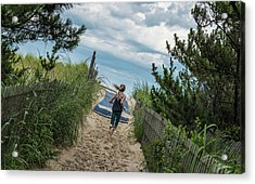 Acrylic Print featuring the photograph Get To The Beach by T Brian Jones