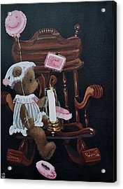 Acrylic Print featuring the painting Get Well And God Bless by Susan Roberts