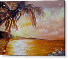 Acrylic Print featuring the painting Getaway by Saundra Johnson