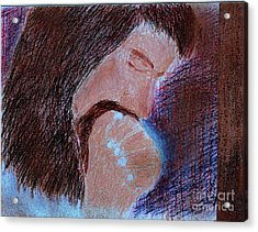 Acrylic Print featuring the painting Gethsemane by Richard W Linford