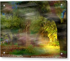 Acrylic Print featuring the photograph Gethsemane Vision-2008 by Anastasia Savage Ealy
