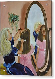 Acrylic Print featuring the painting Getting Ready by Joni McPherson