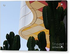 Getty Architecture Cactus Color Curves  Acrylic Print