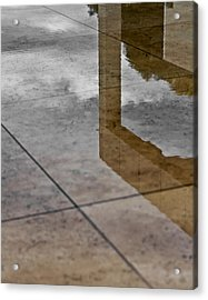 Getty Reflections Acrylic Print by Ron Dubin