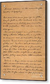 Gettysburg Address Acrylic Print